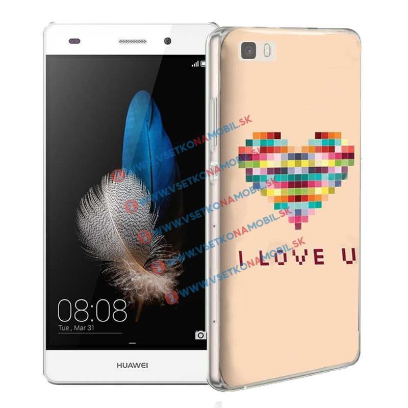 FORCELL Silikónový obal Huawei P8 lite LOVE