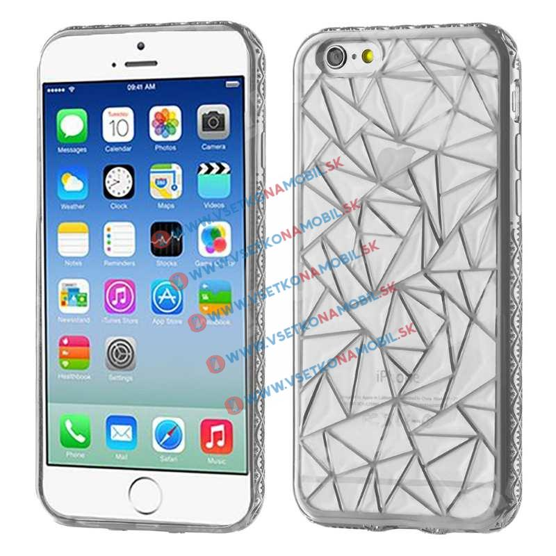 FORCELL Silikonový kryt Apple iPhone 6 Plus / 6S Plus DIAMOND stříbrný