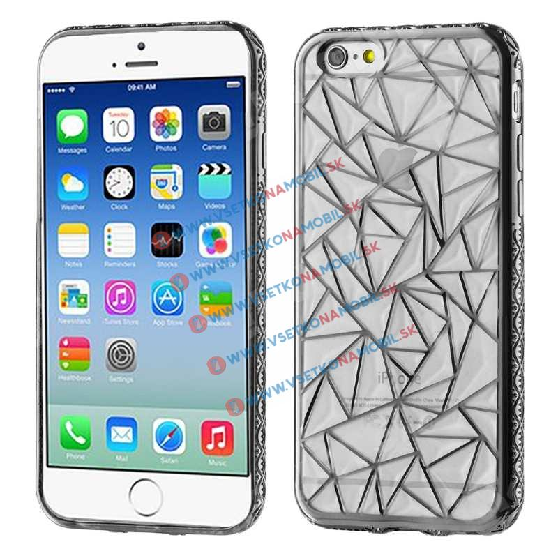 FORCELL Silikónový kryt Apple iPhone 6 Plus / 6S Plus DIAMOND šedý