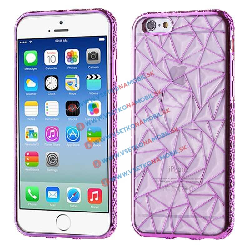 FORCELL Silikonový kryt Apple iPhone 6 Plus   6S Plus DIAMOND fialový ea2ce9f4d5d