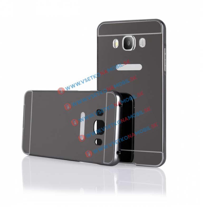 Ochranný zrkadlový obal Samsung Galaxy J5 2016 čierny