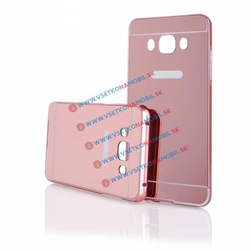 Ochranný zrkadlový obal Samsung Galaxy J5 2016 ružový