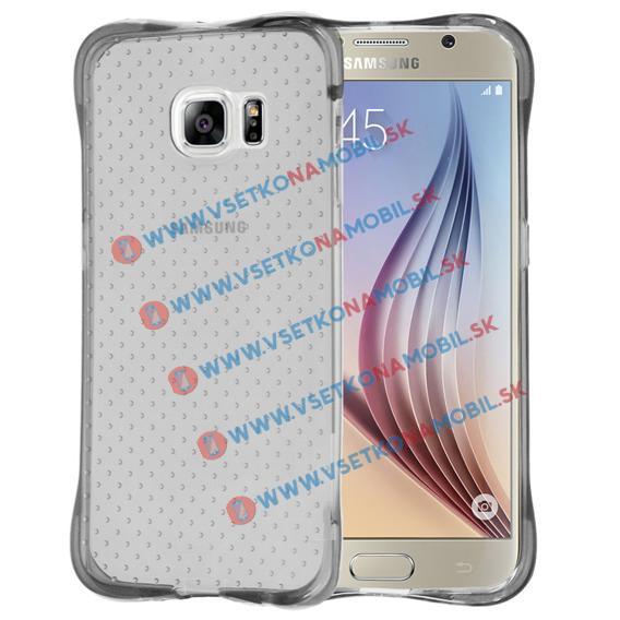 Extraodolný slikónový obal Samsung Galaxy S6 Edge průhledný