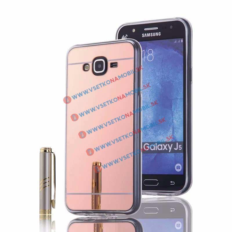 FORCELL Zrkadlový obal Samsung Galaxy J5 2015 (J500) ružový