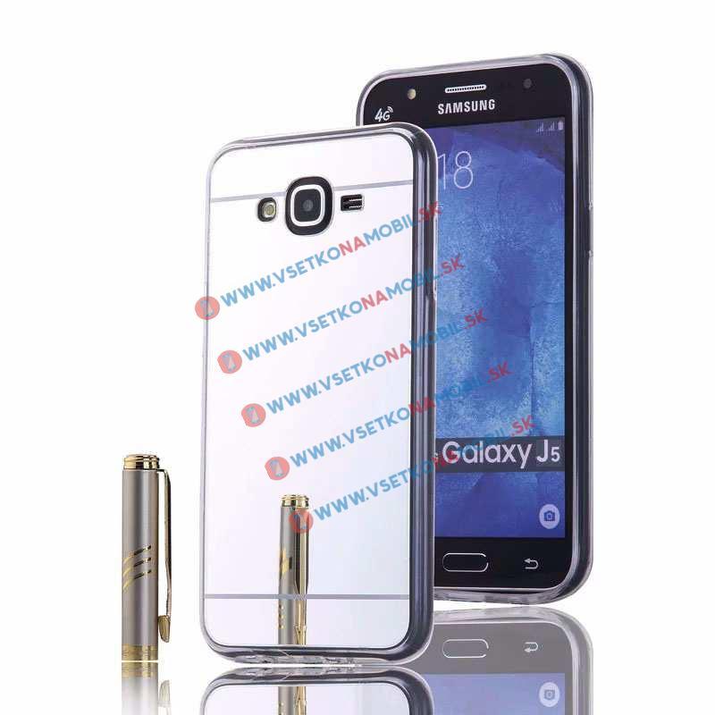 FORCELL Zrkadlový silikónový obal Samsung Galaxy J5 2015 (J500) strieborný