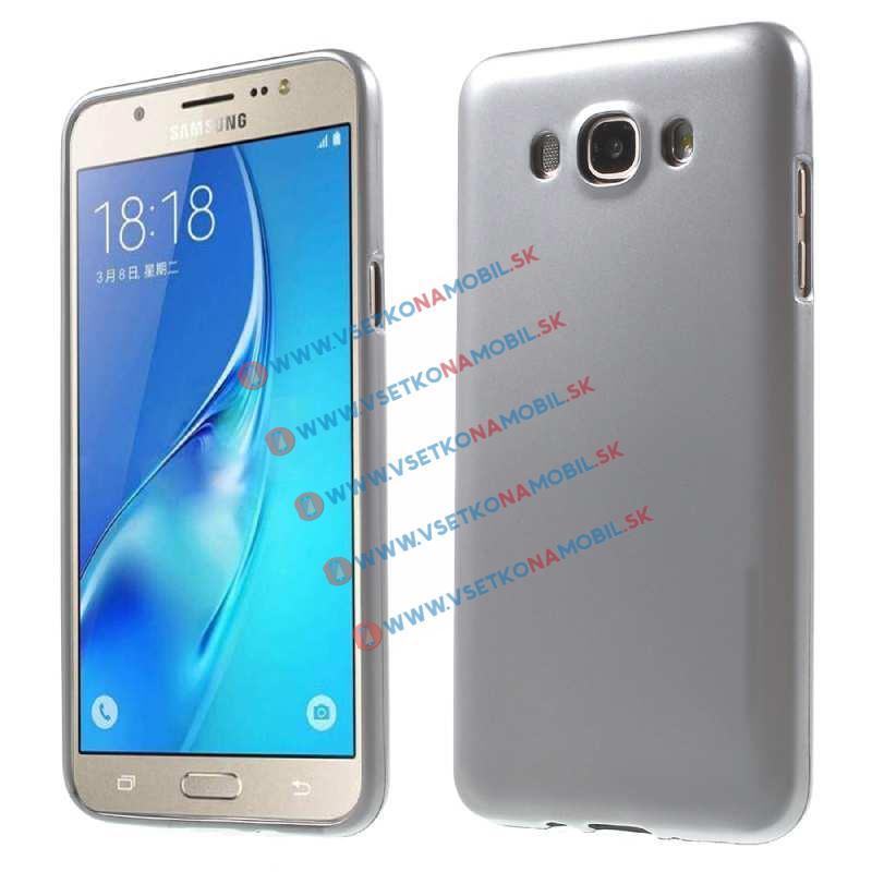 Gumený obal Samsung Galaxy J7 2016 strieborný