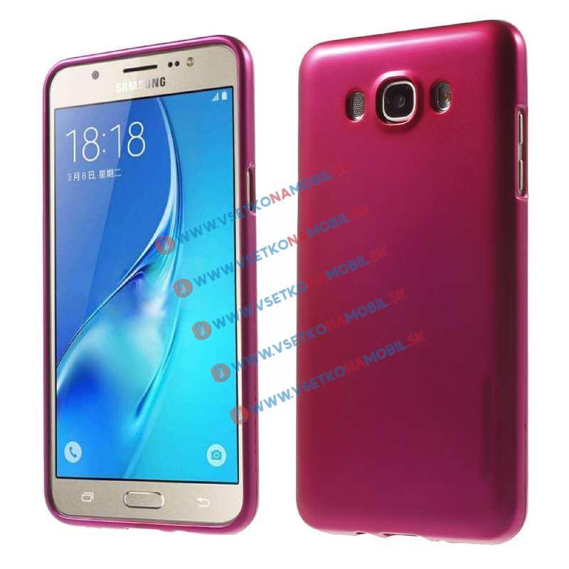 Gumený obal Samsung Galaxy J7 2016 ružový