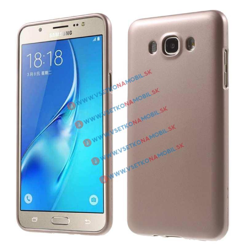 Gumený obal Samsung Galaxy J7 2016 zlatý