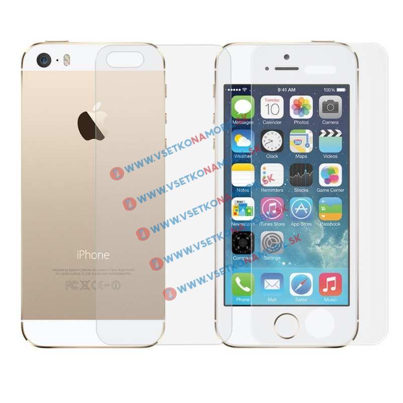 FORCELL Tvrzené sklo Apple iPhone 5 / 5S / SE (PŘEDNÍ + ZADNÍ)