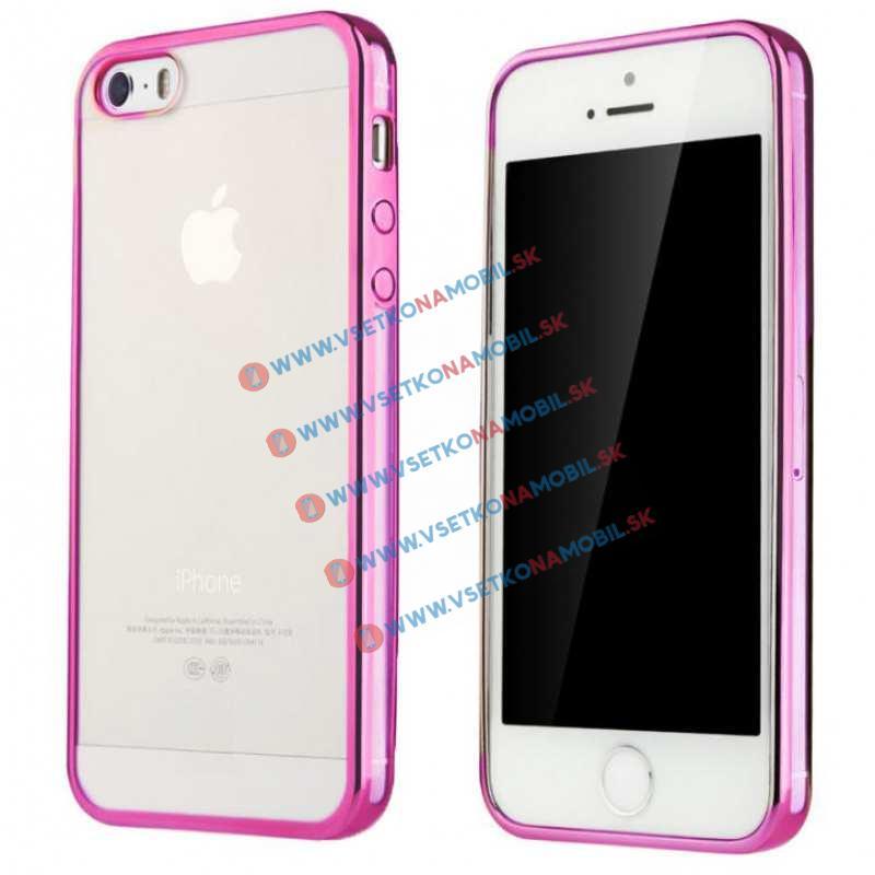 FORCELL METALLIC silikónový obal Apple iPhone 5 / 5S / SE violet