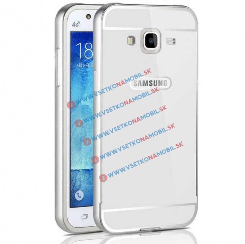 MATTE Hliníkový kryt Samsung Galaxy J5 2015 (J500) strieborný
