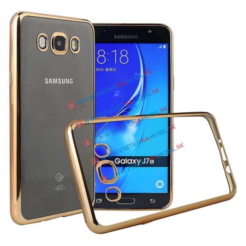 FORCELL Silikonový obal Samsung Galaxy J7 2016 zlatý