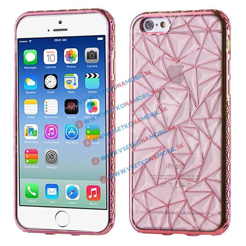 FORCELL Silikonový kryt Apple iPhone 6 Plus / 6S Plus DIAMOND růžový