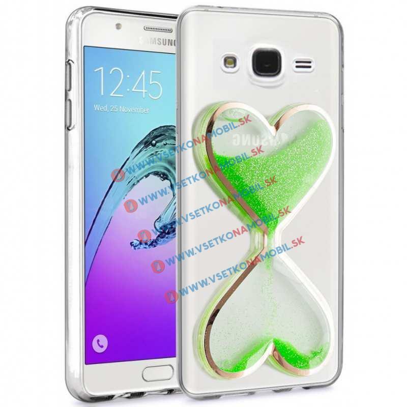 HEART Obal Samsung Galaxy J5 2015 (J500) zelený