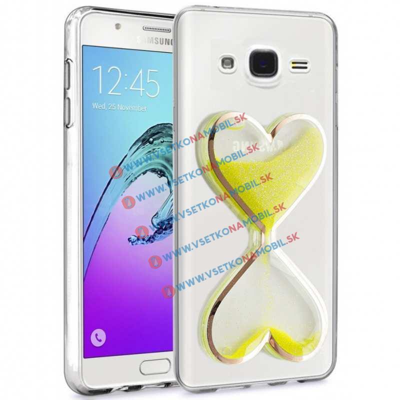 HEART Obal Samsung Galaxy J5 2015 (J500) žltý