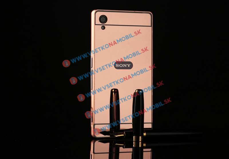Zrkadlový obal Sony Xperia M4 Aqua ružový