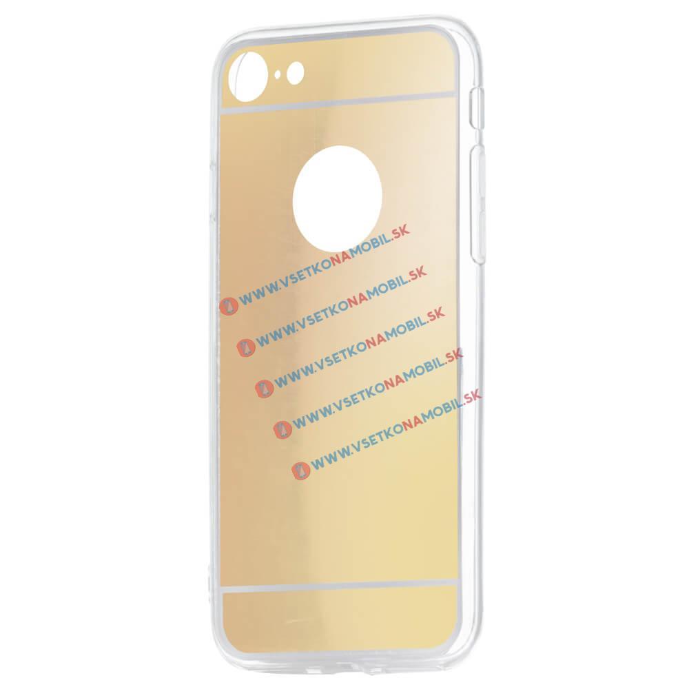 FORCELL Zrkadlový silikónový obal Apple iPhone 7 / iPhone 8 zlatý