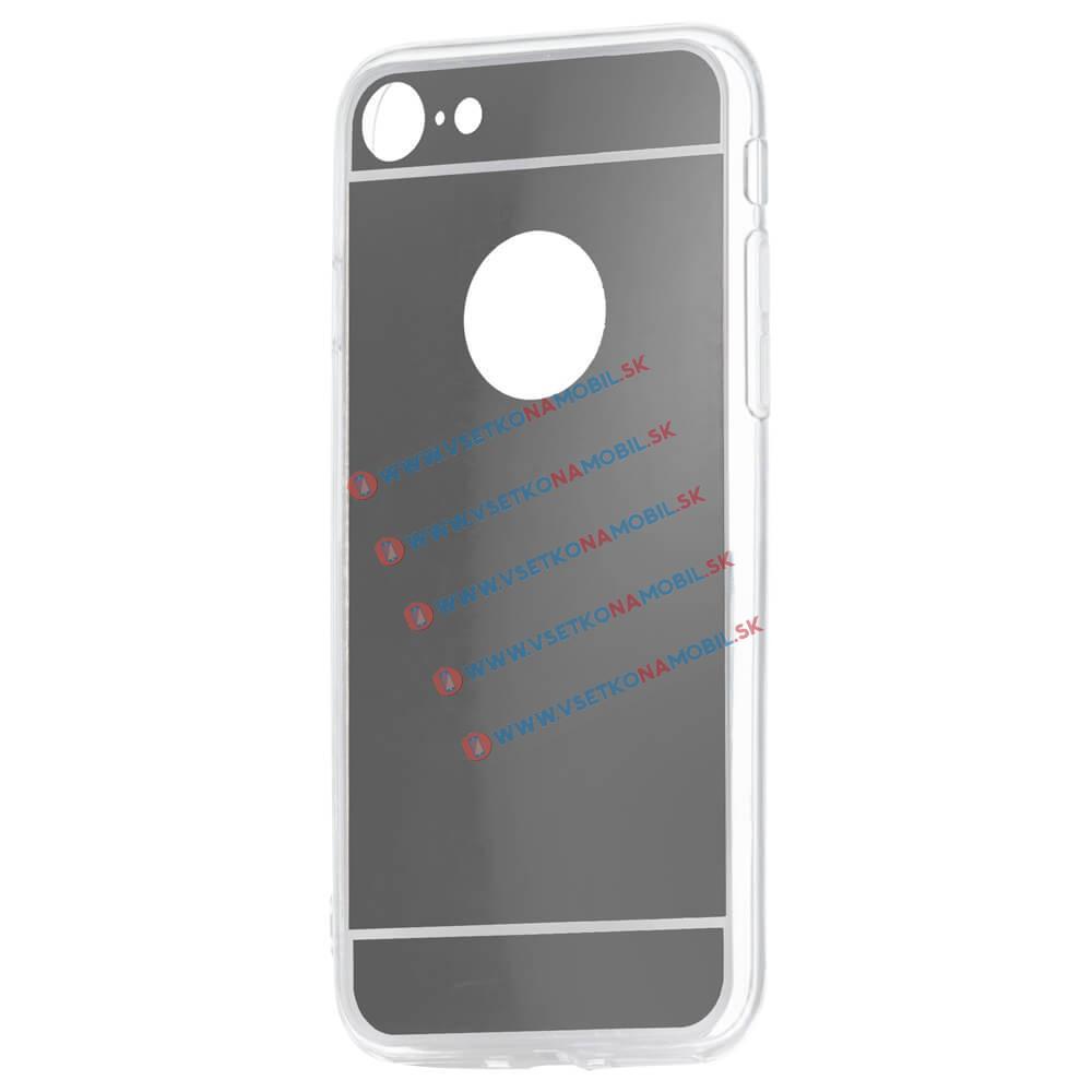 FORCELL Zrcadlový silikonový obal iPhone 7 / iPhone 8 černý