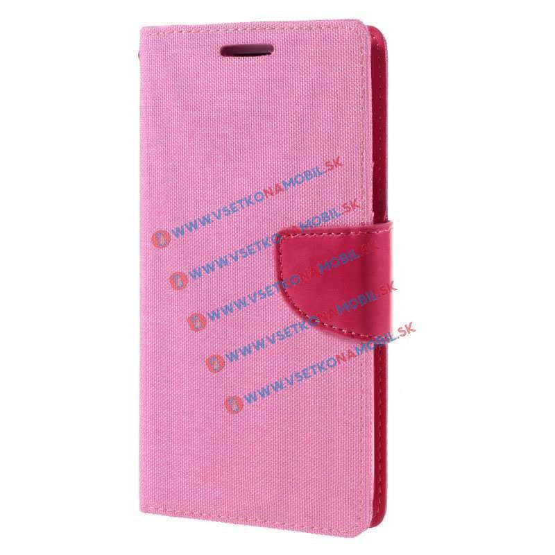 FANCY Peňaženkové púzdro Samsung Galaxy J5 2016 ružové