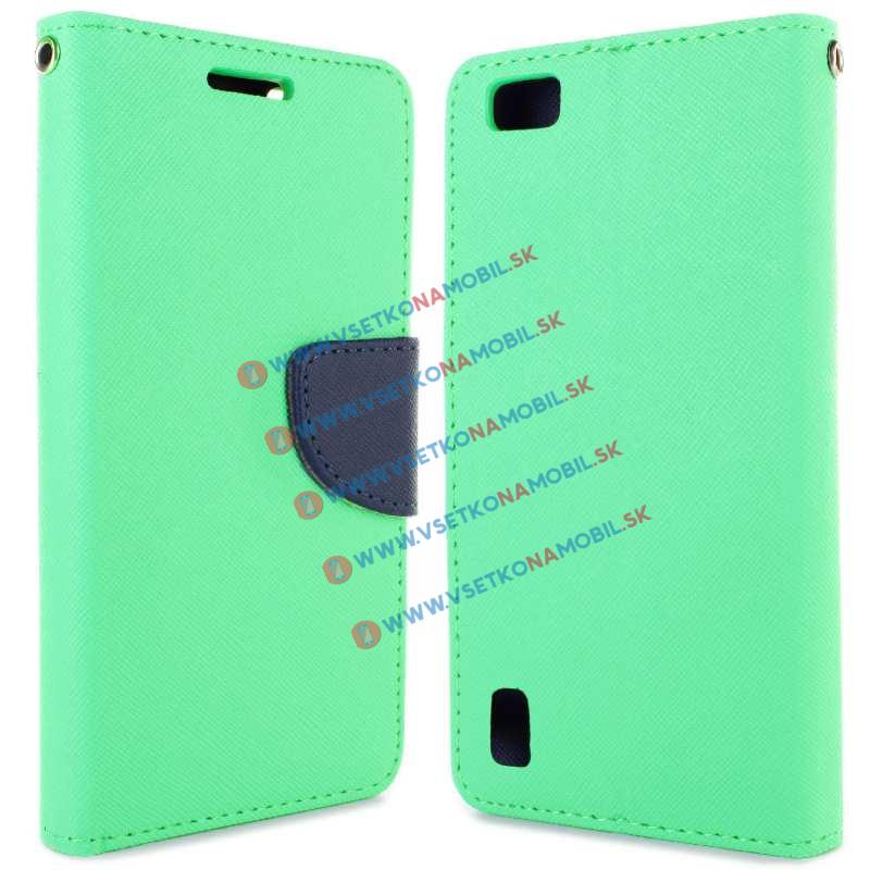 FANCY Peňaženkové púzdro Huawei Honor 6 zelené