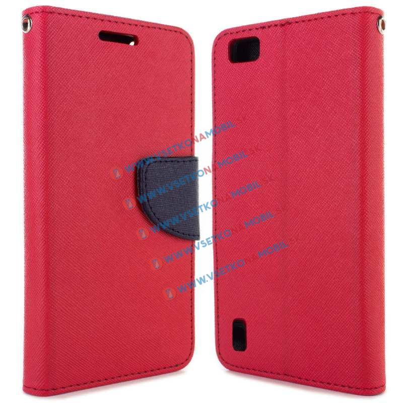 FANCY Peňaženkové púzdro Huawei Honor 6 ružové