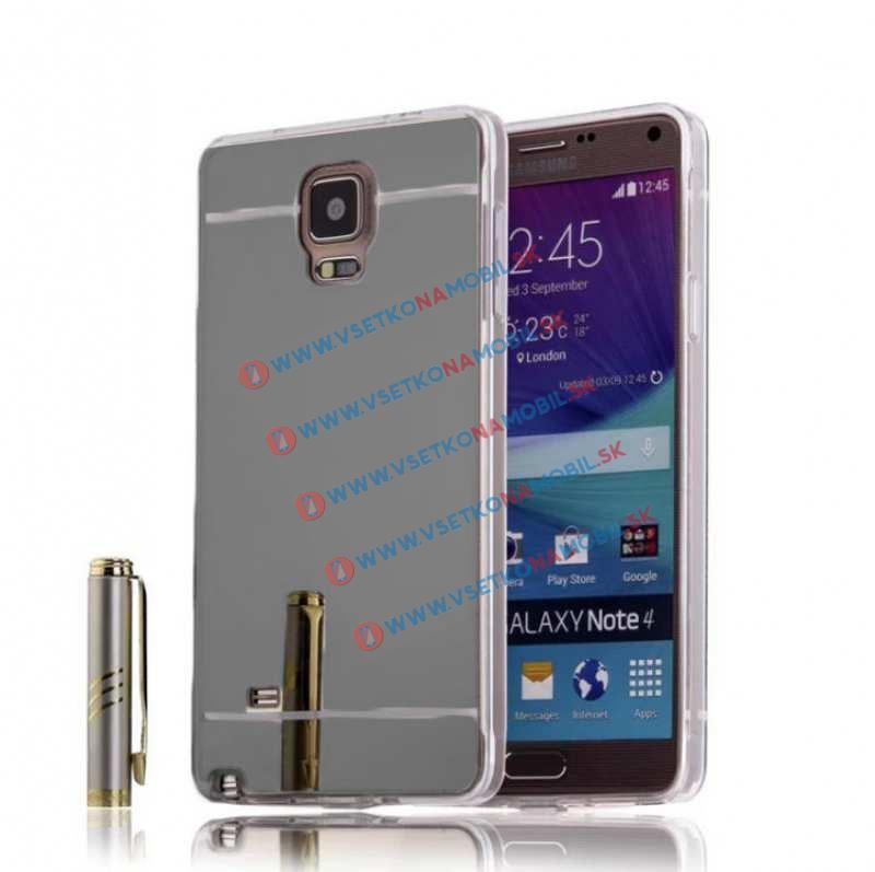 FORCELL Zrkadlový silikónový obal Samsung Galaxy Note 4 čierny