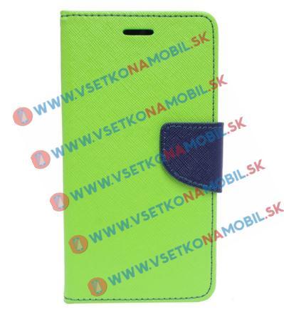 FANCY Peňaženkové púzdro Sony Xperia X zelené (lime)