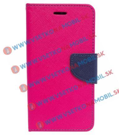 FANCY Peňaženkové pouzdro Sony Xperia X růžové
