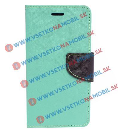 FANCY Peňaženkové púzdro Sony Xperia X zelené (mint)