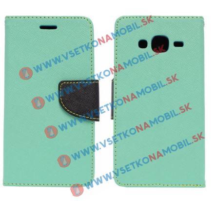 Knižkové púzdro Samsung Galaxy J5 2015 (J500) zelené (mint)