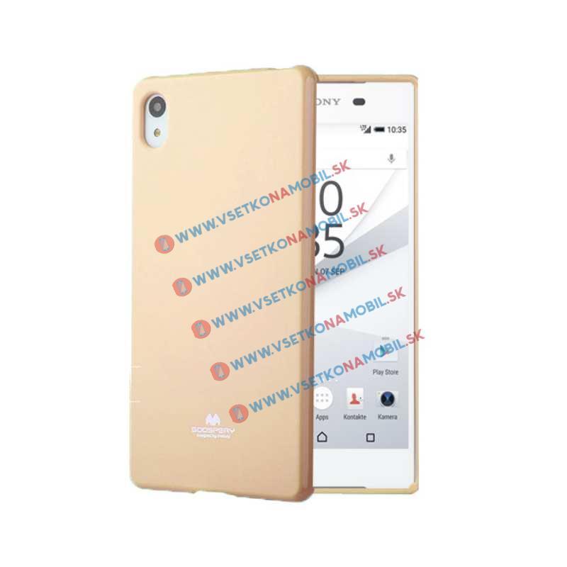 JELLY Gumený obal Sony Xperia Z5 zlatý
