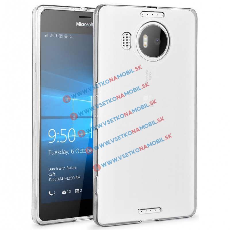 FORCELL Silikonový obal Microsoft Lumia 950XL průhledný