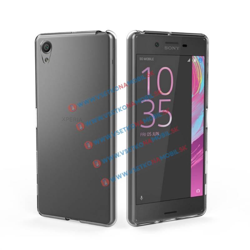 FORCELL Silikonový obal Sony Xperia X průhledný