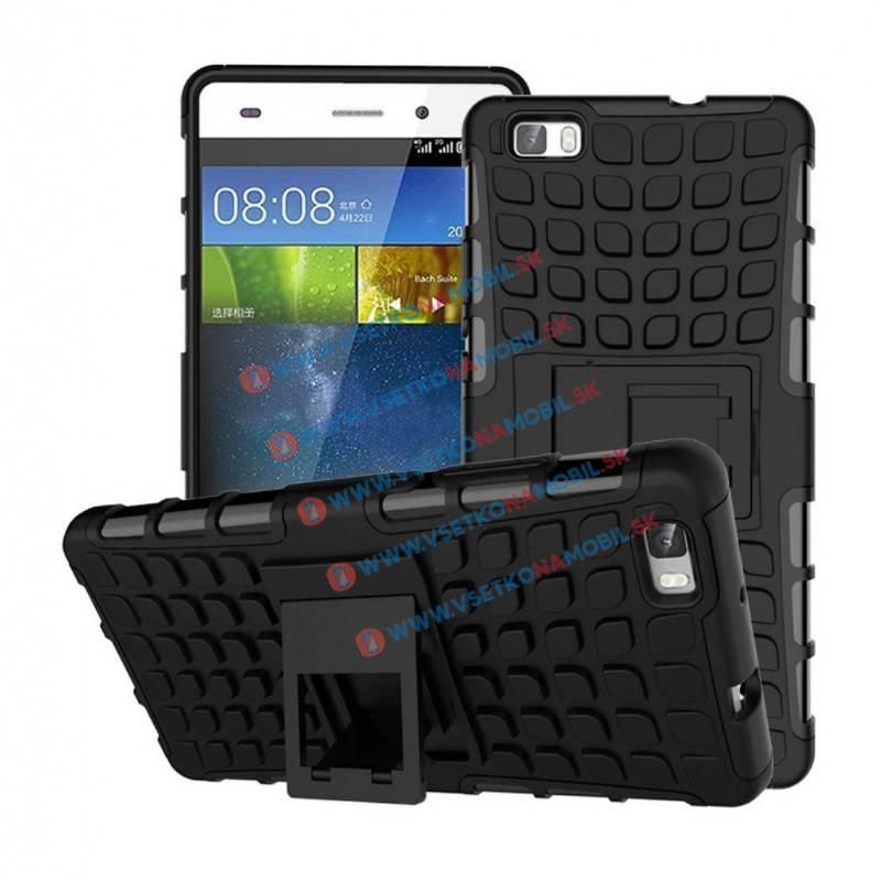 FORCELL STAND Odolný obal Huawei P8 lite čierny