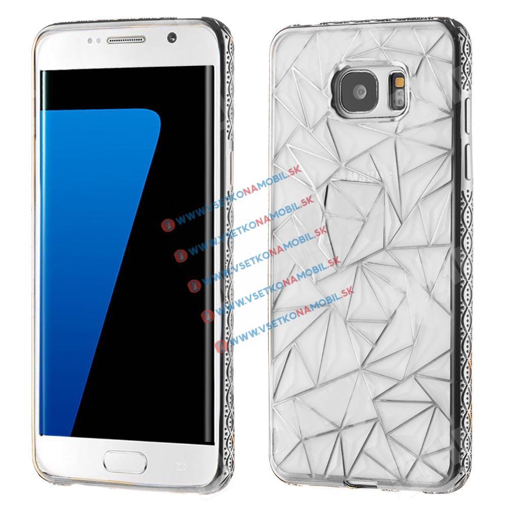 FORCELL DIAMOND Silikonový obal Samsung Galaxy S7 Edge stříbrný