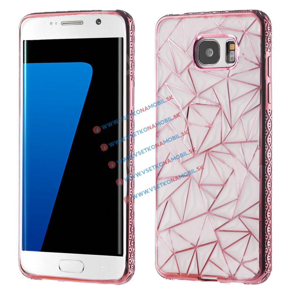 FORCELL DIAMOND Silikonový kryt Samsung Galaxy S7 Edge růžový