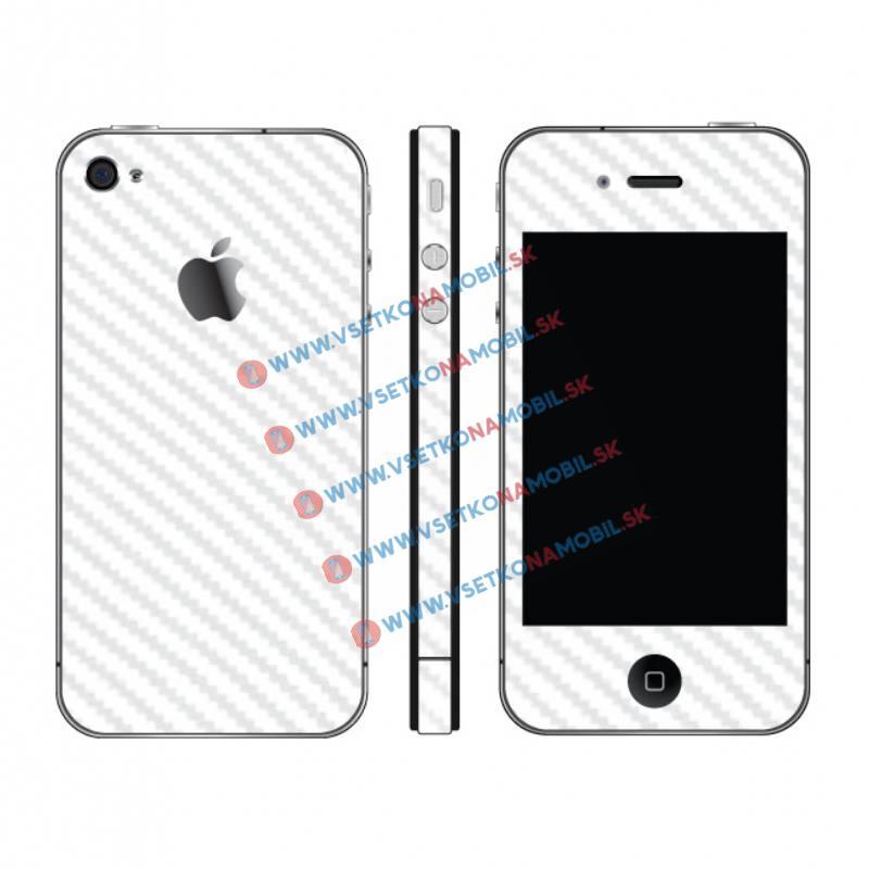 FORCELL Karbonová fólie pro iPhone 4 / 4S bílá