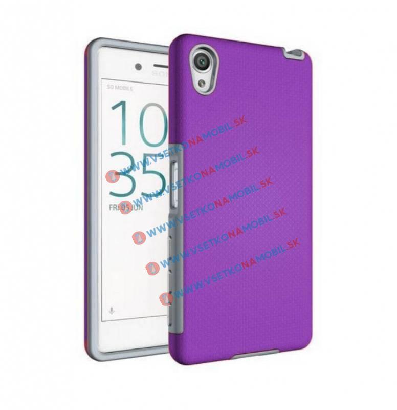HYBRID Ochranný obal Sony Xperia X fialový