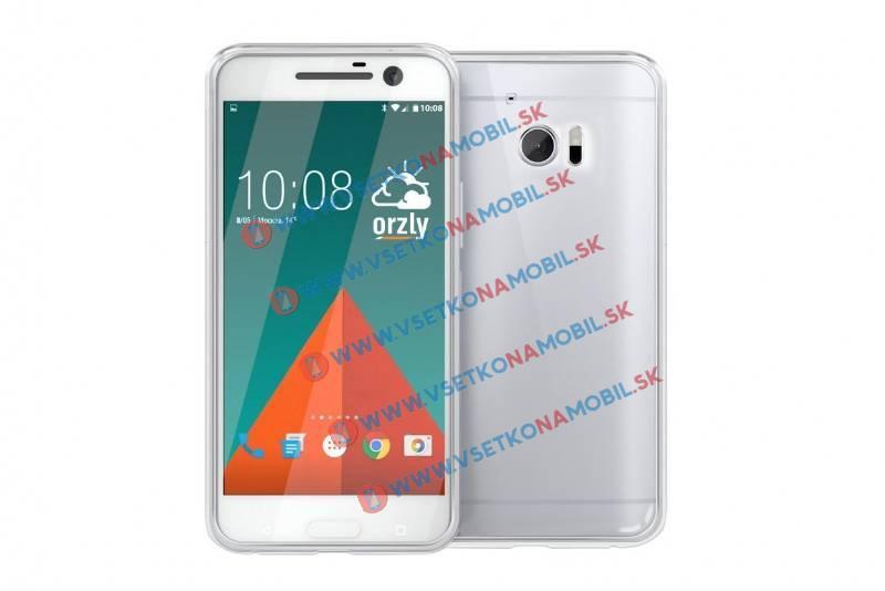 FORCELL Silikónový obal HTC 10 priehľadný
