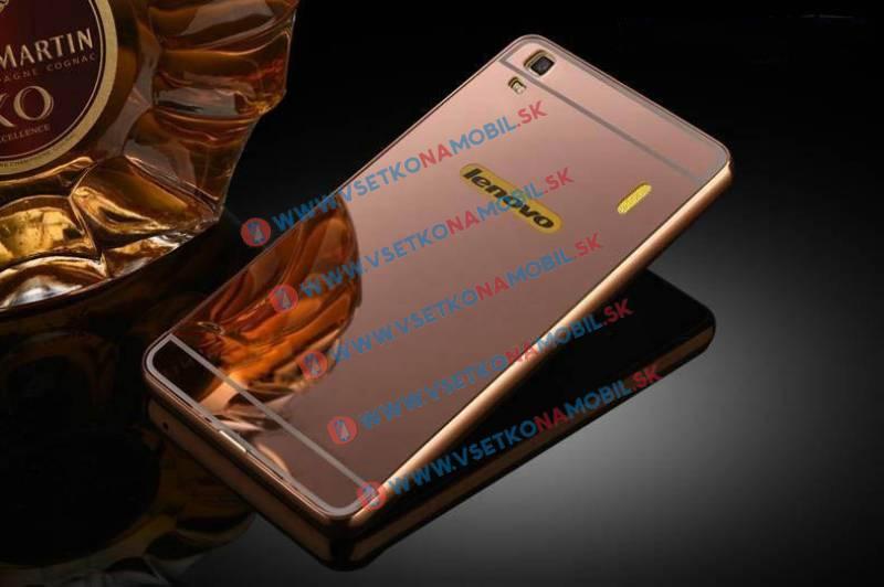 Ochranný zrkadlový obal Lenovo A7000 (K3 Note) ružový