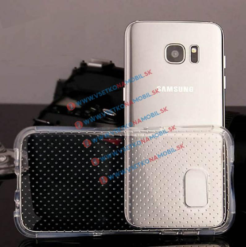 Extraodolný obal Samsung Galaxy S7 Edge průhledný