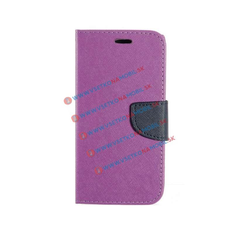FANCY Peňaženkové flip puzdro Huawei P8 lite fialové