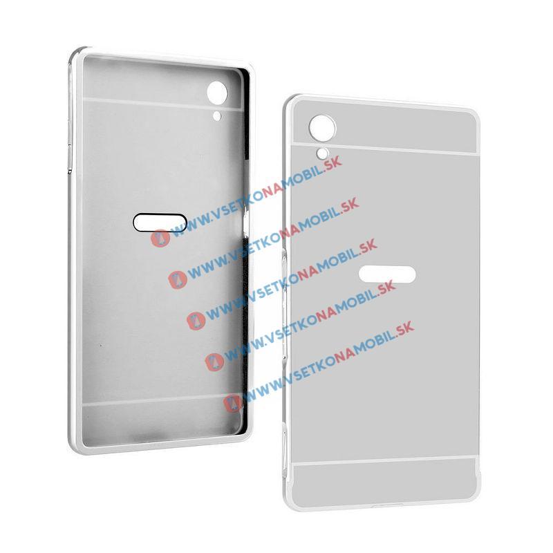 MATTE Ochranný obal Sony Xperia M4 Aqua stříbrný