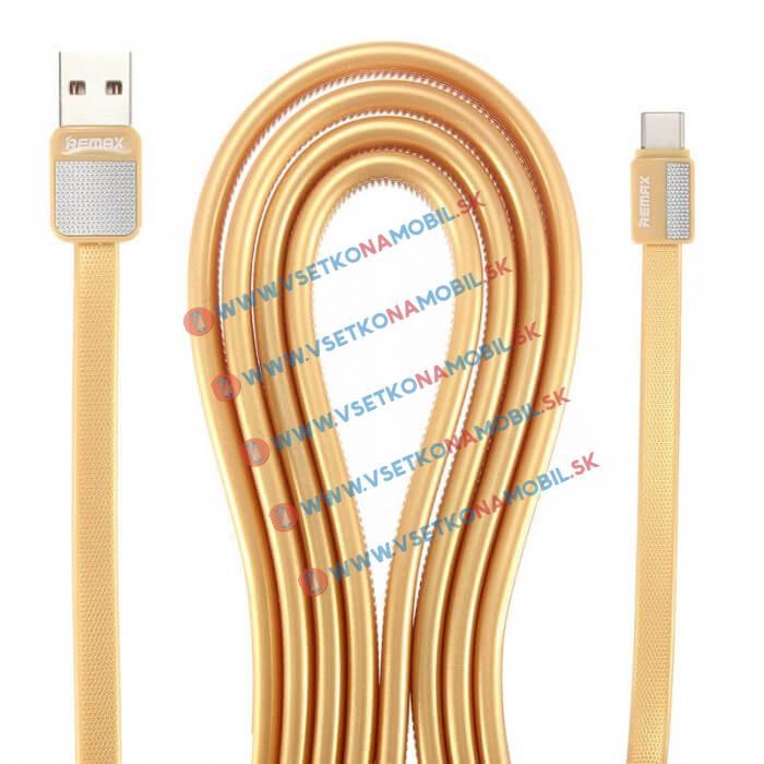 REMAX PLATINUM Dátový kábel USB Typ-C zlatý