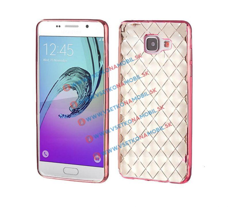FORCELL Silikónový obal Samsung Galaxy A5 2016 ružový (strong) LUXURY