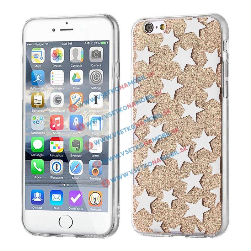 FORCELL SHINY STARS Ochranný obal Apple iPhone 6 / 6S zlatý