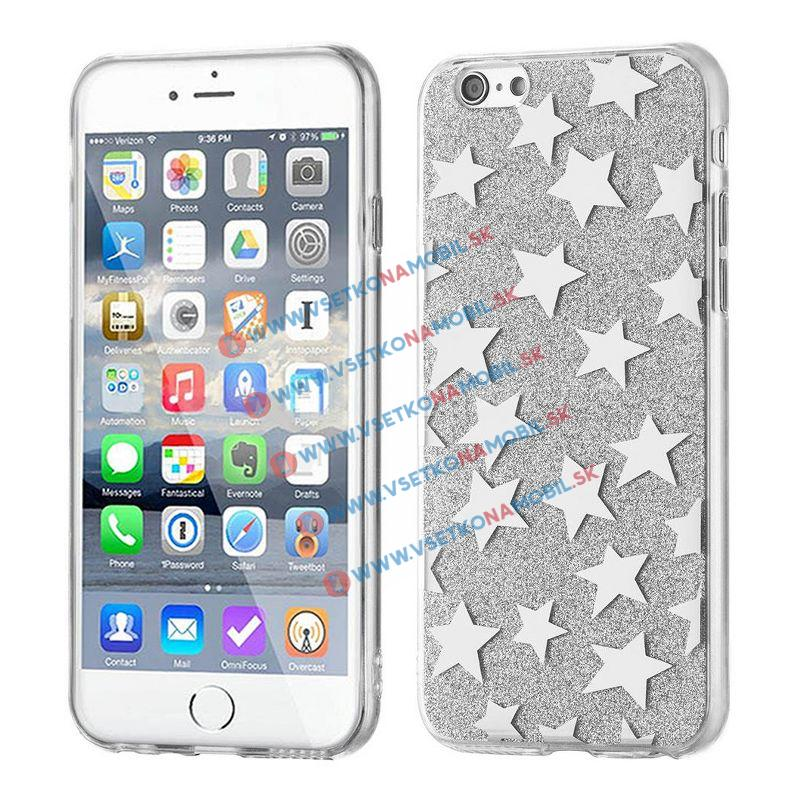 FORCELL SHINY STARS Ochranný obal Apple iPhone 6 / 6S strieborný