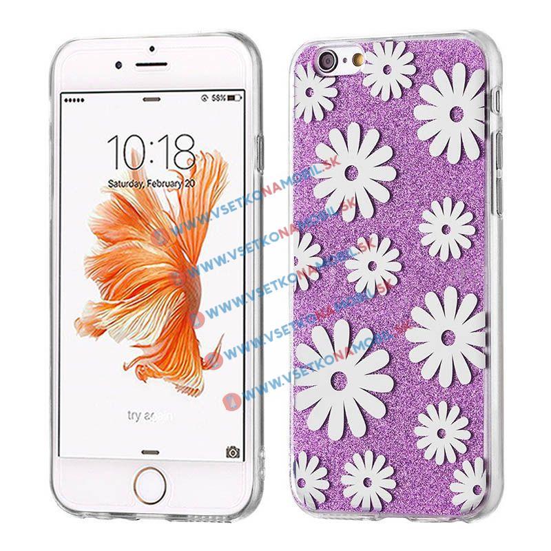 FORCELL SHINY FLOWERS Ochranný obal Apple iPhone 6 / 6S fialový