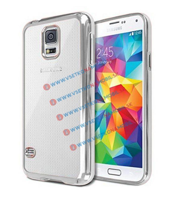 FORCELL Silikonový kryt Samsung Galaxy S5 stříbrný