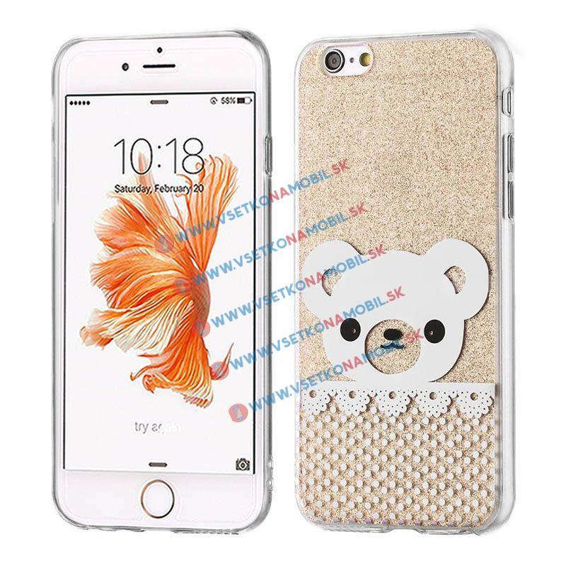 FORCELL SHINY BEAR Silikonový obal Apple iPhone 6 / 6S zlatý